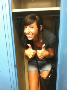 Just the usual, hanging out in lockers in Goodwill.